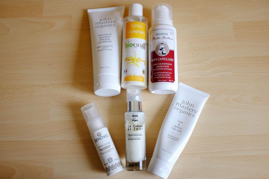 Les après-shampoings et les laits et crèmes