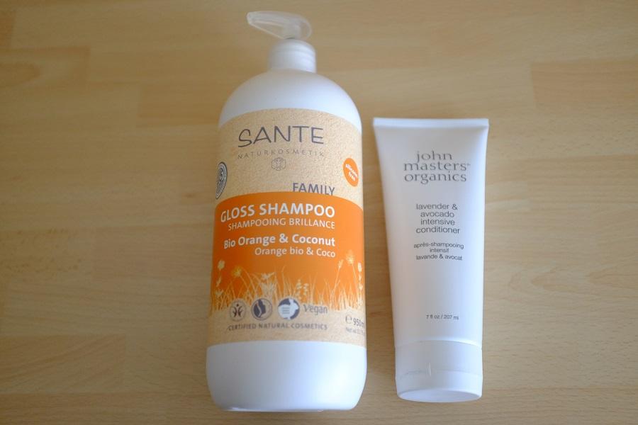 shampoing orange coco et après shampoing lavande avocat JMO