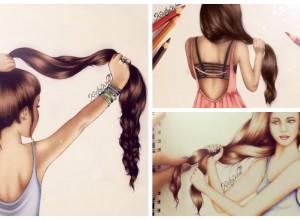 Cheveux longs les superbes dessins de Kristina Webb