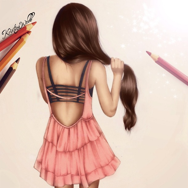 kristina webb drawing hair