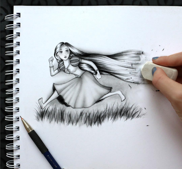 kristina webb drawing raiponce