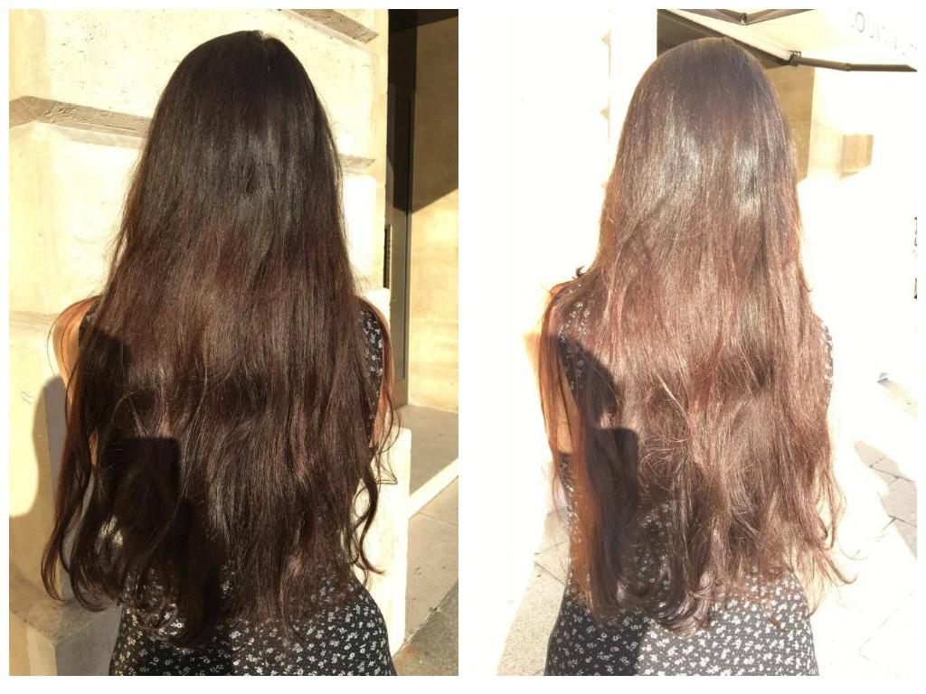 Résultat 3 jours après au soleil, cheveux non brossés - sans flash - avec flash