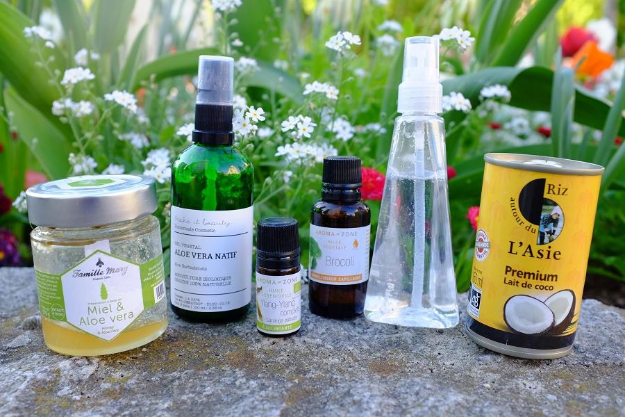 Ingrédients masque hydratation cheveux
