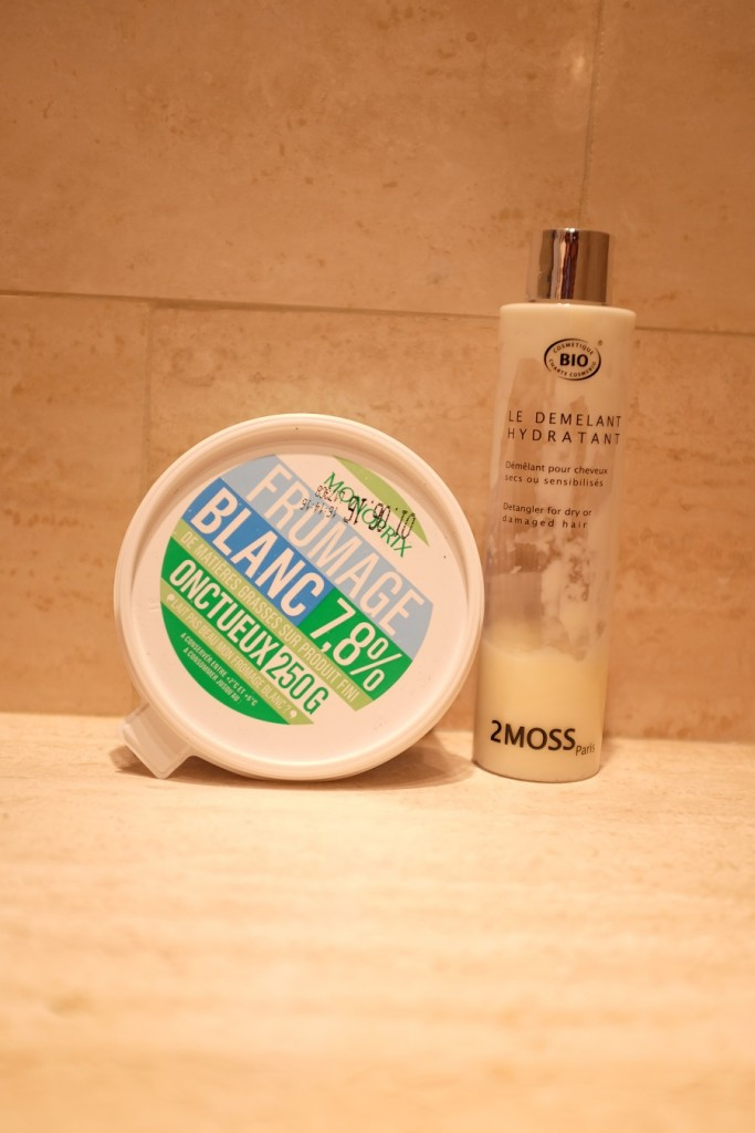 fromage blanc et après-shampoing 2Moss