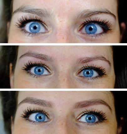 avant après épilation sourcils carole and brows