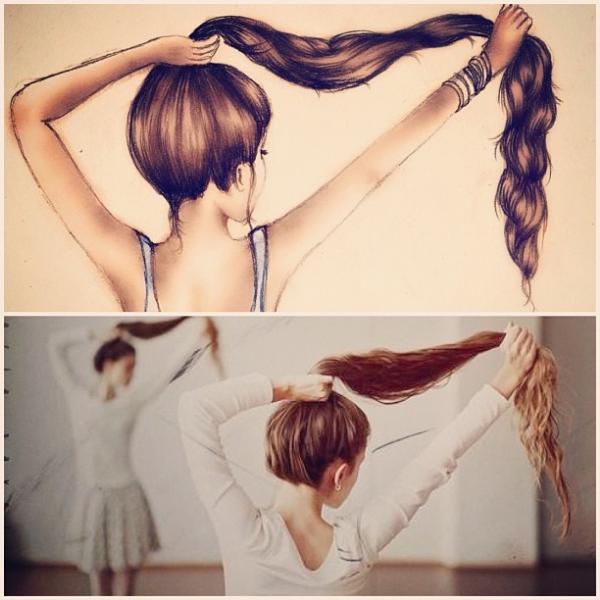 Kristina webb first drawing hair
