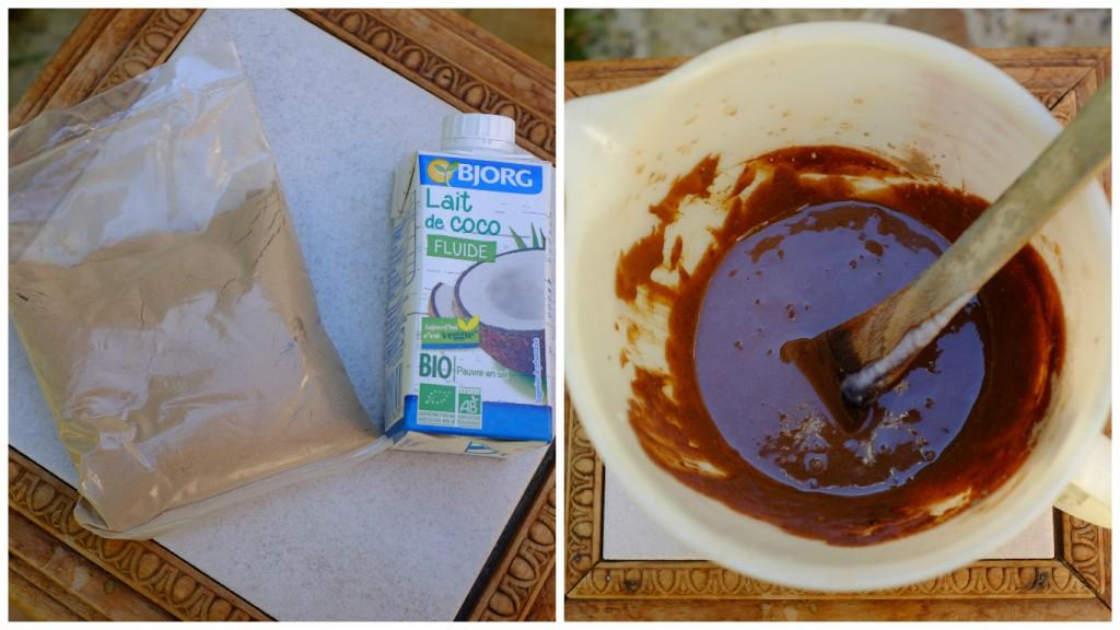 Mélange Radico avec le lait de coco