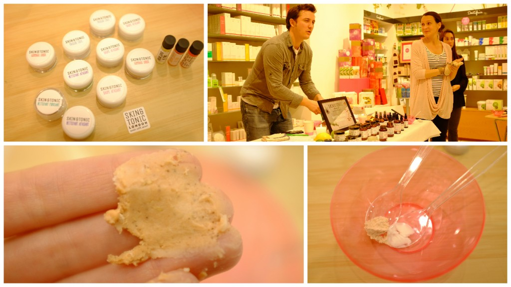 L'atelier de présentation des produits Skin & Tonic avec Josh et Sarah, les créateurs de la marque