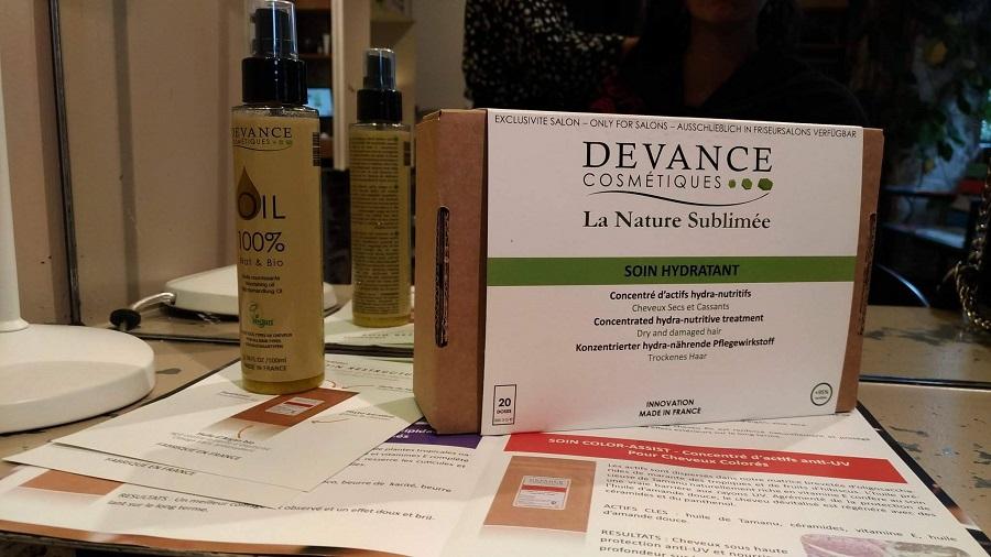 Devance Cosmetiques soin et huile capillaire